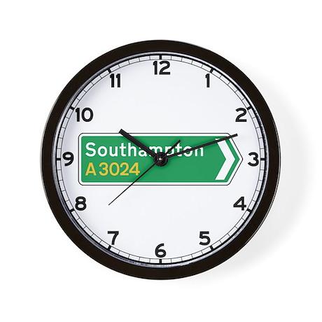 Southampton Roadmarker, UK Wall Clock