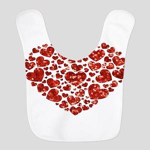 valentines day heart Bib