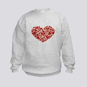 valentines day heart Kids Sweatshirt