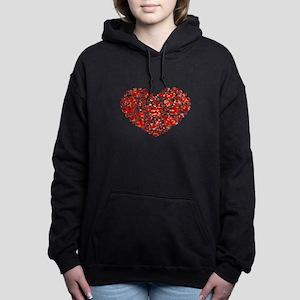 valentines day heart Women's Hooded Sweatshirt