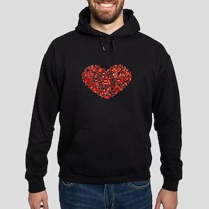 valentines day heart Hoodie (dark)