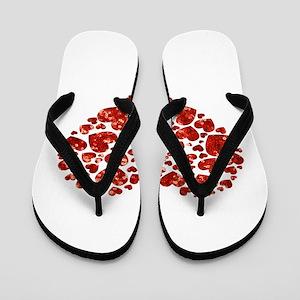 valentines day heart Flip Flops