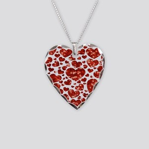 valentines day heart Necklace Heart Charm