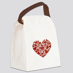 valentines day heart Canvas Lunch Bag