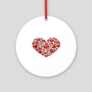 valentines day heart Round Ornament