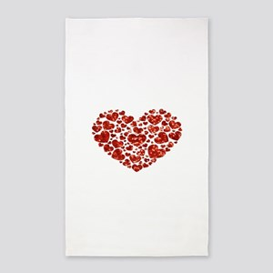 valentines day heart Area Rug