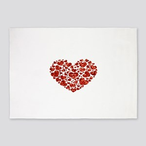 valentines day heart 5'x7'Area Rug