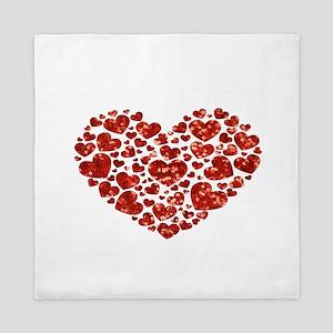 valentines day heart Queen Duvet