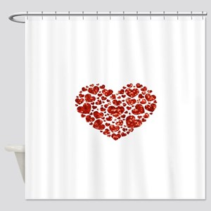 valentines day heart Shower Curtain