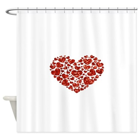 Valentines Day Heart Shower Curtain By Admin CP13506533