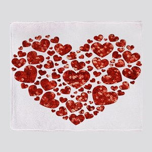 valentines day heart Throw Blanket