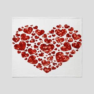 valentines day heart Throw Blanket