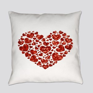 valentines day heart Everyday Pillow