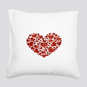 valentines day heart Square Canvas Pillow