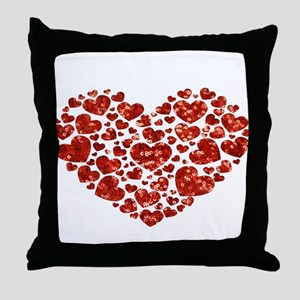 valentines day heart Throw Pillow