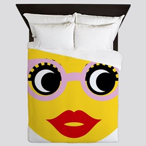 Pretty Smart Emoji Queen Duvet