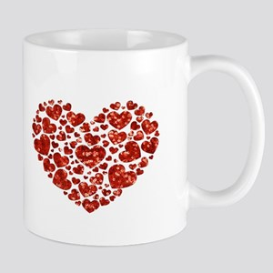 valentines day heart Mugs