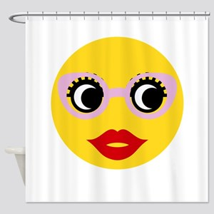 Pretty Smart Emoji Shower Curtain