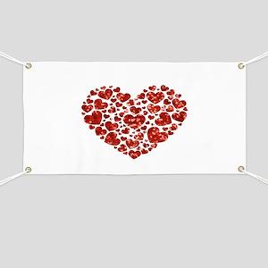 valentines day heart Banner