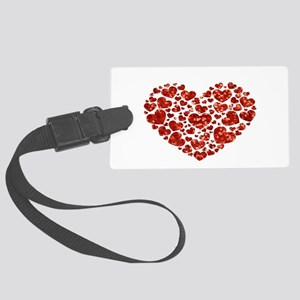valentines day heart Large Luggage Tag