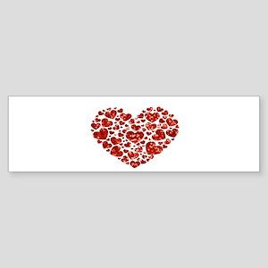 valentines day heart Bumper Sticker