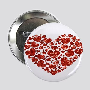 "valentines day heart 2.25"" Button"