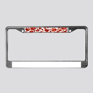 valentines day heart License Plate Frame