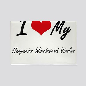 I Love my Hungarian Wirehaired Vizslas Magnets