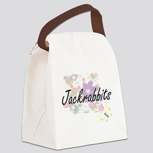 Jackrabbits artistic design with Canvas Lunch Bag