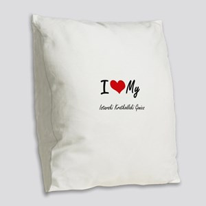 I Love my Istarski Kratkodlaki Burlap Throw Pillow