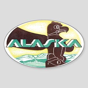 Vintage Alaska Retro Oval Sticker