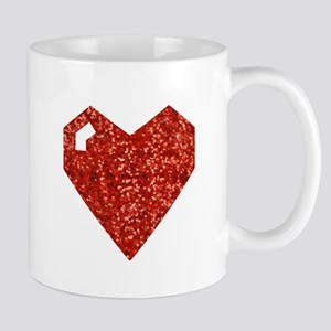 pixel valentines day heart Mugs