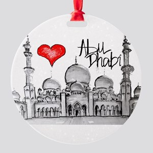 I love Abu Dhabi Round Ornament