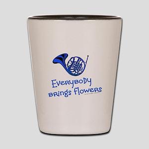 Blue French Horn Shot Glass