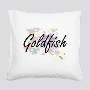 Goldfish artistic design with Square Canvas Pillow