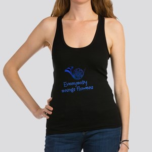 Blue French Horn Racerback Tank Top