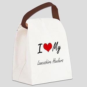 I Love my Lancashire Heelers Canvas Lunch Bag