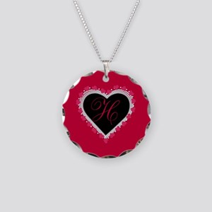 Lace Heart Monogram Necklace