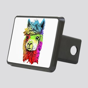 Color Me Alpaca Rectangular Hitch Cover