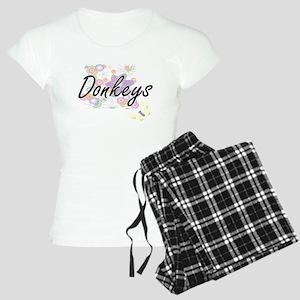 Donkeys artistic design wit Women's Light Pajamas