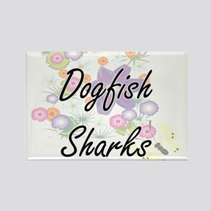 Dogfish Sharks artistic design with flower Magnets