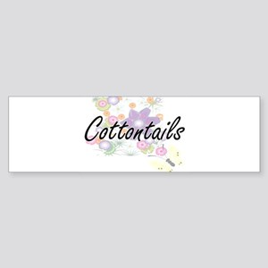 Cottontails artistic design with fl Bumper Sticker