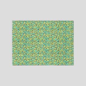 Green Mosaic 5'x7'Area Rug