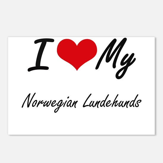 I Love my Norwegian Lunde Postcards (Package of 8)