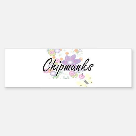 Chipmunks artistic design with flow Bumper Bumper Bumper Sticker