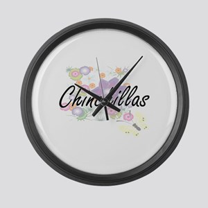 Chinchillas artistic design with Large Wall Clock