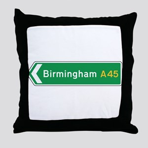 Birmingham Roadmarker, UK Throw Pillow