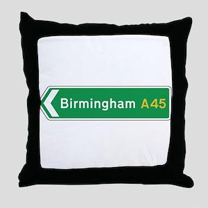 Birmingham Roadmarker, UK Throw Pillow