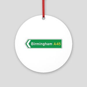 Birmingham Roadmarker, UK Ornament (Round)