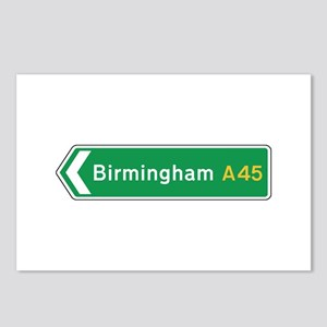 Birmingham Roadmarker, UK Postcards (Package of 8